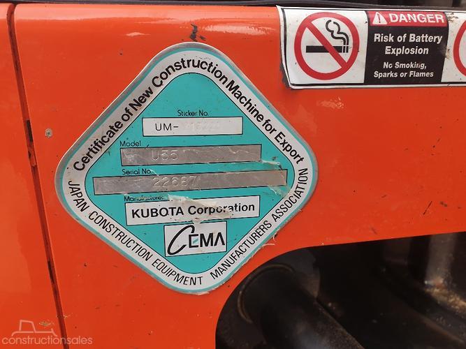 Kubota Construction equipments for Sale in Australia