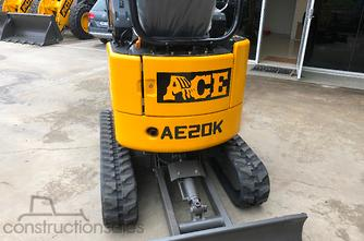 2019 ACE机械AE20K零摆,久保田D105QUICK-HITCH