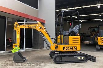 2019年ACE机械AE20K Kubota D1105,零摆幅快速连接