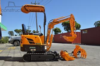 2018 Agrison Mini挖掘机免费3x斗式开膛机后钻孔机原木抓取机