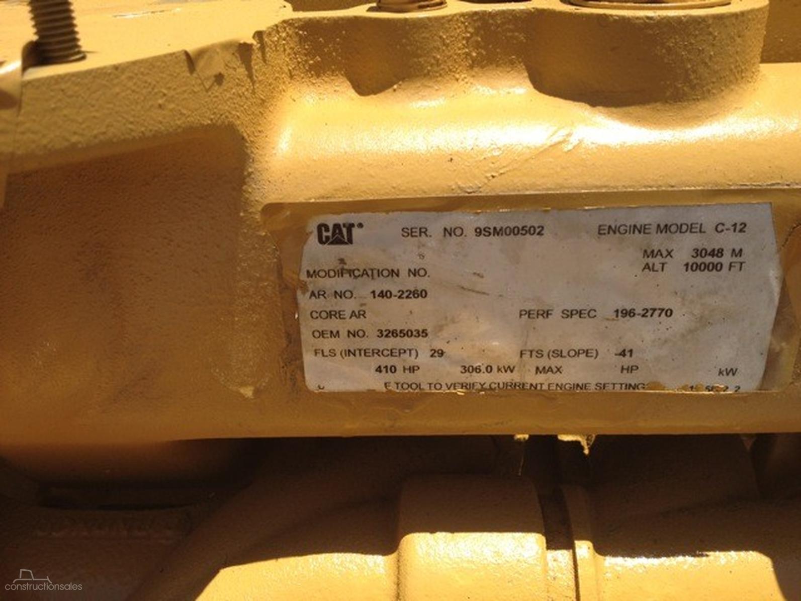 CATERPILLAR C12-AG-AD-378219 - constructionsales com au